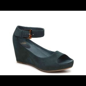 Johnston & Murphy Tricia Wedge Heel - Forest Green
